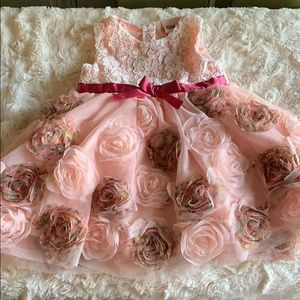 Little Lass Baby Girl Floral Dress
